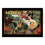 mexico land of tropical splendour greeting card