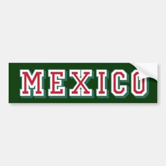 Mexico logo Bumper Sticker for Mexicans