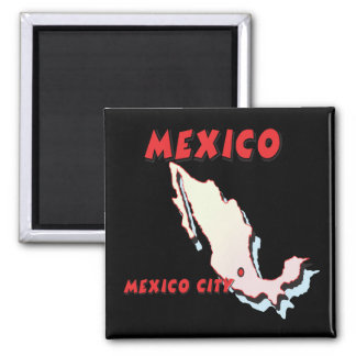 Mexico Square Magnet