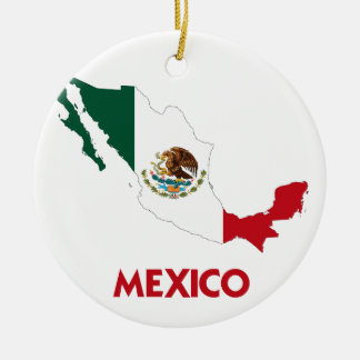 MEXICO MAP CHRISTMAS ORNAMENT