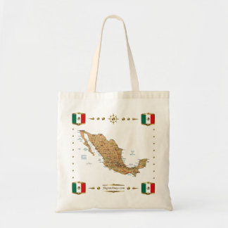 Mexico Map + Flags Bag
