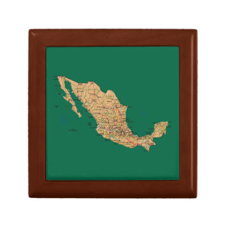 Mexico Map Gift Box