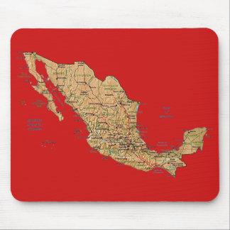 Mexico Map Mousepad