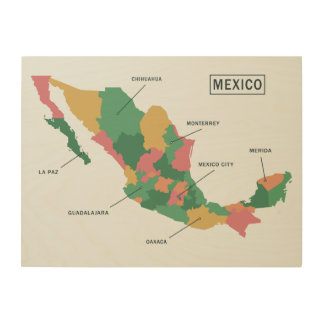 Mexico Map wood wall art