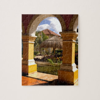 Mexico, Mayan Riviera, architecture at Iberostar Jigsaw Puzzle