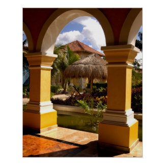Mexico, Mayan Riviera, architecture at Iberostar Poster