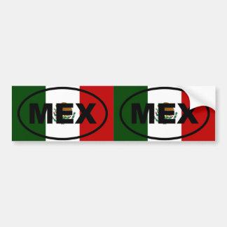 Mexico - MEX - Euro style Car Bumper Sticker