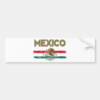 Mexico Mexican Flag Bumper Sticker