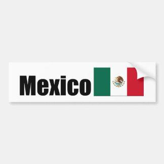 Mexico, Mexican flag Bumper Sticker