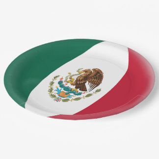 Mexico Mexican Flag Paper Plate