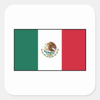 Mexico - Mexican Flag Square Sticker