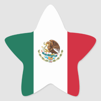 Mexico/Mexican Flag Star Sticker