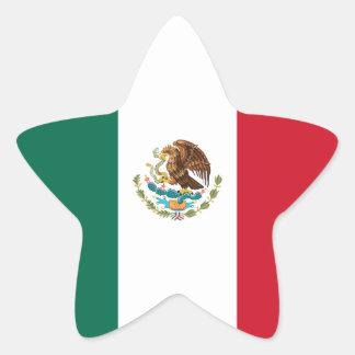 Mexico/Mexican Flag Star Sticker
