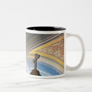 Mexico, Morelia. Sun's rays penetrate interior Two-Tone Coffee Mug