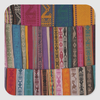 Mexico, Oaxaca Province, Oaxaca, woven belts on Square Sticker
