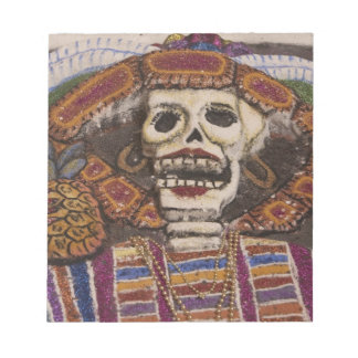 Mexico, Oaxaca. Sand tapestry (tapete de arena) Notepad