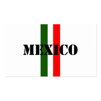 Mexico Pack Of Standard Business Cards