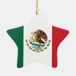 Mexico Plain Flag Christmas Ornament