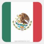 Mexico Plain Flag Square Sticker