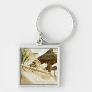 Mexico, Playa Del Carmen, hammock on beach Key Ring