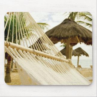 Mexico, Playa Del Carmen, hammock on beach Mouse Pad