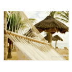 Mexico, Playa Del Carmen, hammock on beach Postcard