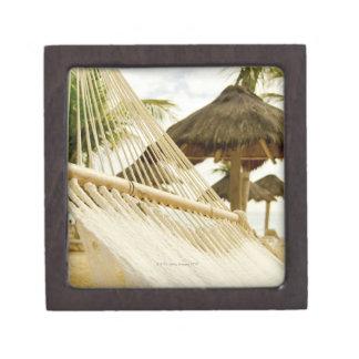 Mexico, Playa Del Carmen, hammock on beach Premium Gift Box