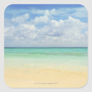 Mexico, Playa Del Carmen, seascape 2 Square Sticker