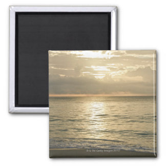 Mexico, Playa Del Carmen, seascape 3 Square Magnet