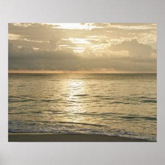 Mexico, Playa Del Carmen, seascape 3 Poster