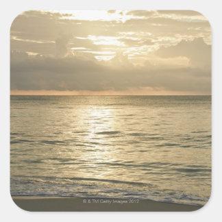 Mexico, Playa Del Carmen, seascape 3 Square Stickers