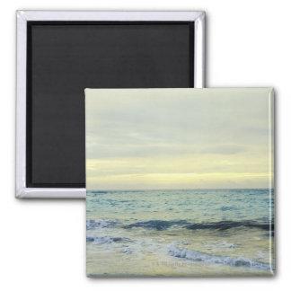 Mexico, Playa Del Carmen, seascape 5 Square Magnet
