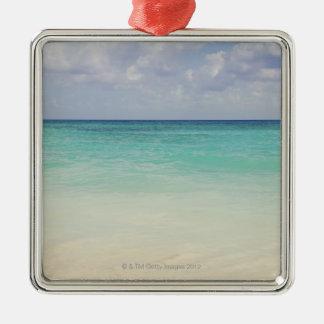 Mexico, Playa Del Carmen, seascape Silver-Colored Square Decoration