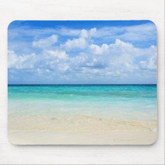 Mexico, Playa Del Carmen, tropical beach Mouse Pad