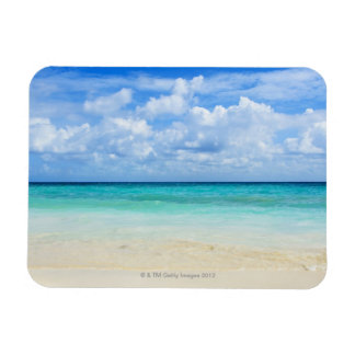 Mexico, Playa Del Carmen, tropical beach Rectangular Photo Magnet