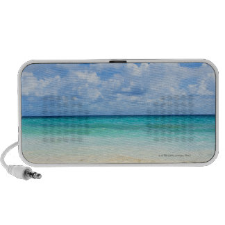 Mexico, Playa Del Carmen, tropical beach Portable Speakers