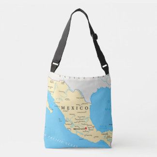 Mexico Political Map Crossbody Bag