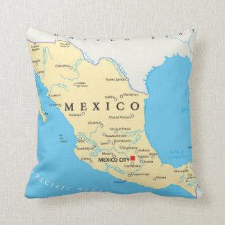 Mexico Political Map Cushion