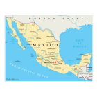 Mexico Political Map Postcard