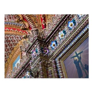 Mexico, Queretaro. Detail inside ornate Catholic Postcard