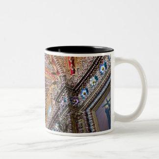 Mexico, Queretaro. Detail inside ornate Catholic Two-Tone Coffee Mug
