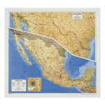 Mexico Reference Map - 1993 Poster