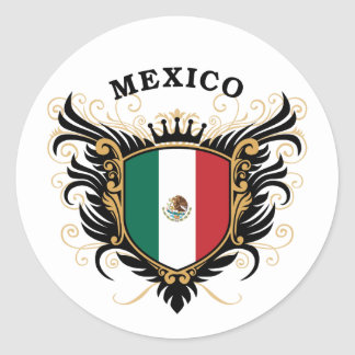 Mexico Round Sticker