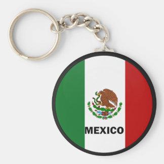 Mexico Roundel quality Flag Basic Round Button Key Ring