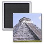 Mexico Ruins Square Magnet