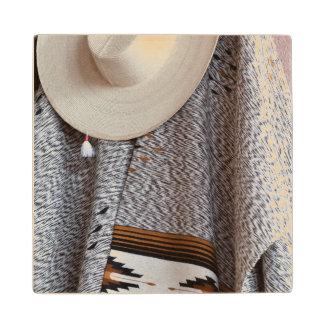 Mexico, San Miguel De Allende. Close-Up Of Hat Wood Coaster