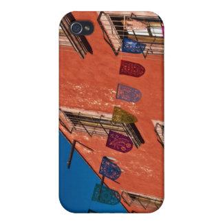 Mexico, San Miguel de Allende. Colorful banners iPhone 4 Case
