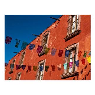 Mexico, San Miguel de Allende. Colorful banners Postcard