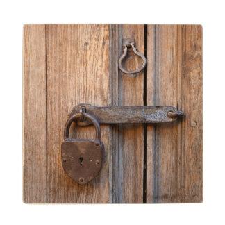 Mexico, San Miguel De Allende. Detail Of A Door Wood Coaster