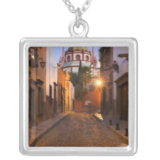 Mexico, San Miguel de Allende. Early morning Silver Plated Necklace